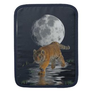 Tiger Cub Wild-Cat Full Moon Fantasy iPad Sleeve