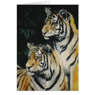 """Tiger Cubs"" Greeting Card"