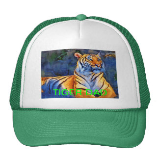 TIGER DAD Trucker Hat with Proud Tiger Print