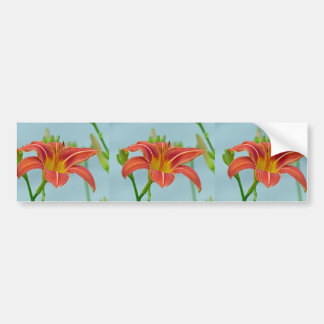 Tiger Daylily Bumper Sticker