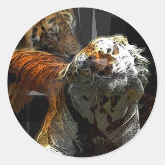 Tiger Delight Classic Round Sticker