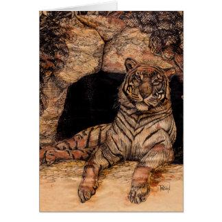 Tiger Den Greeting Cards