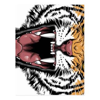 tiger designs postcard