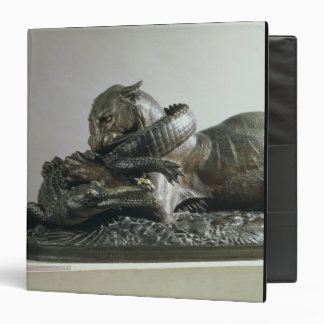 Tiger devouring an alligator, 1832 (bronze) binder