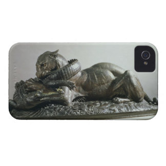 Tiger devouring an alligator, 1832 (bronze) iPhone 4 Case-Mate case