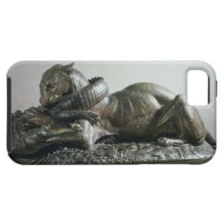 Tiger devouring an alligator, 1832 (bronze) iPhone SE/5/5s case