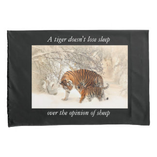 Tiger double sided pillow case pair