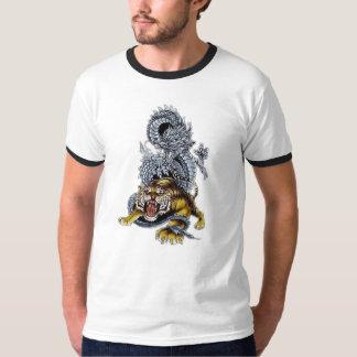 Tiger & Dragon Fight Tee Shirts