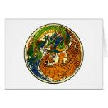 Tiger & Dragon Yin Yang Greeting Cards