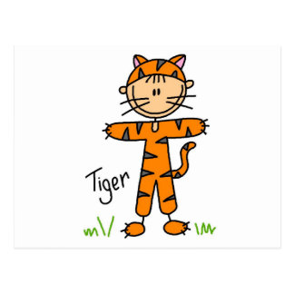 Tiger Dress Up T-shirts and Gifts Postcard