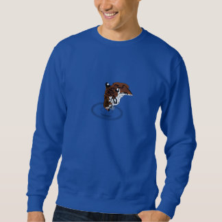 Tiger Drinking Water Pull Over Sweatshirt