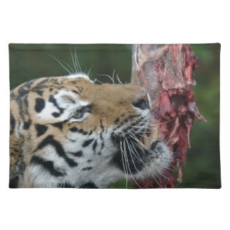 Tiger eating cloth placemat