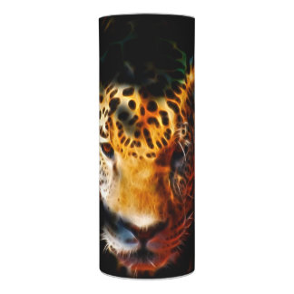 Tiger emerging fractal flameless candle