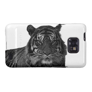 Tiger Endangered Species Wild Cats Black and White Galaxy S2 Case
