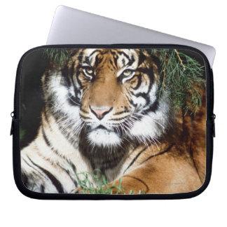 Tiger Enjoying Shade Laptop Computer Sleeves