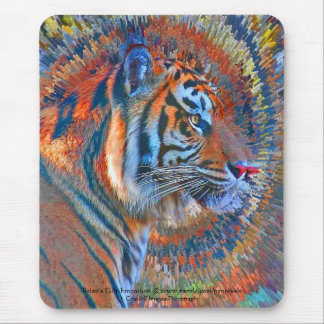 Tiger Explosion Mouse Pad