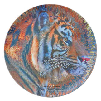Tiger Explosion Party Plate
