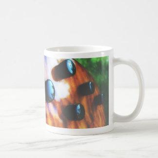 Tiger eye bass pickup knobs close up coffee mugs