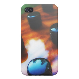 Tiger eye bass pickup knobs close up iPhone 4/4S case