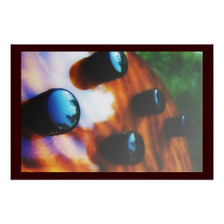 Tiger eye bass pickup knobs close up print