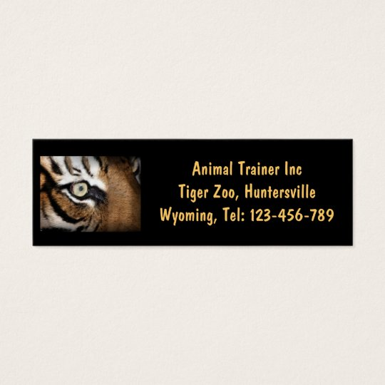 Tiger Eye Business Card