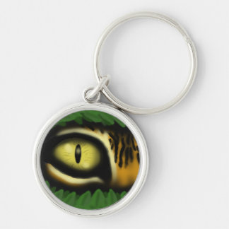 Tiger eye cartoon art cool keychain design