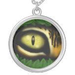 Tiger eye cartoon art cool necklace design
