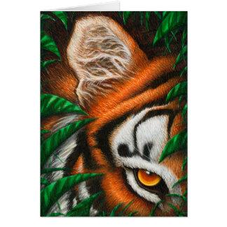 Tiger Eye Greeting Card
