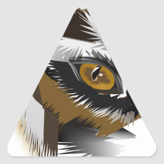 tiger eye search for love.png triangle sticker