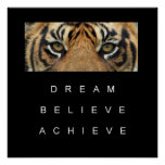 tiger eyes achievement motivational quote poster