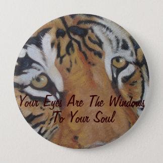 tiger eyes big cat wildlife animal art button