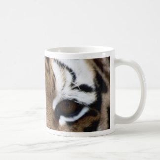 Tiger eyes classic white coffee mug