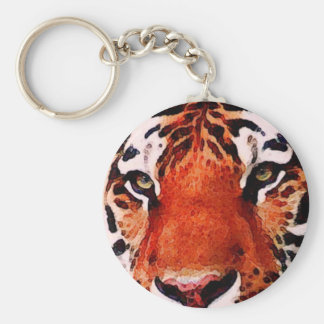 Tiger Eyes Custom Basic Button Keychain