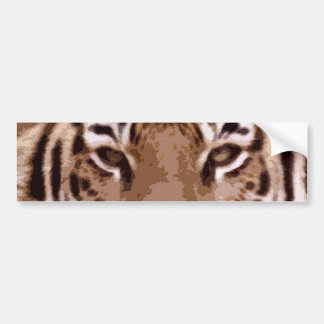 Tiger Eyes Custom Bumper Sticker