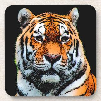 Tiger Eyes Inspirational Drink Coaster