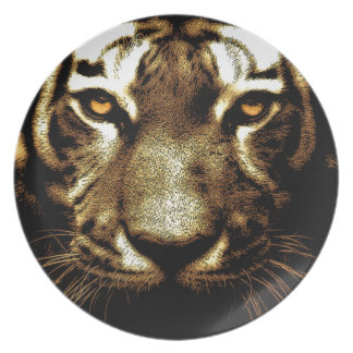 Tiger Eyes Melamine Plate