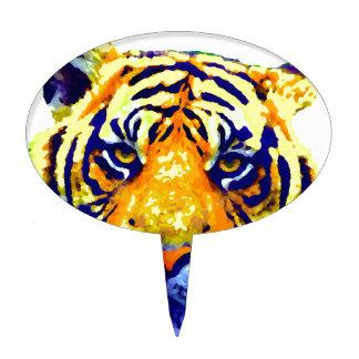 Tiger Eyes Pop Art Cake Topper