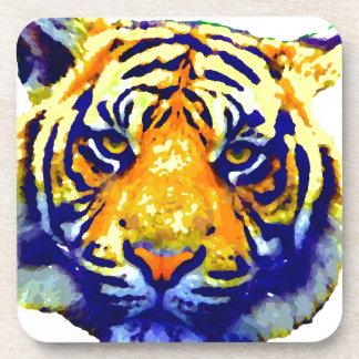 Tiger Eyes Pop Art Drink Coaster