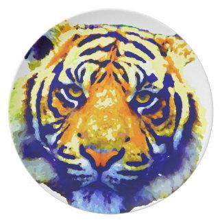 Tiger Eyes Pop Art Melamine Plate