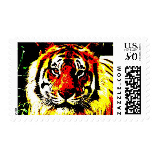 Tiger Eyes Pop Art Style Postage