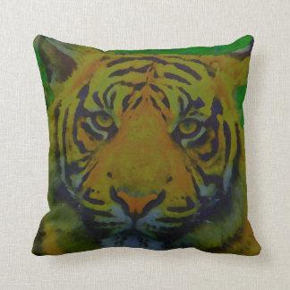 Tiger Eyes Pop Art Throw Pillow