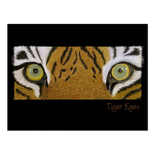 tiger eyes postcard