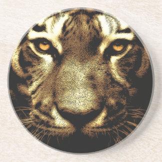 Tiger Eyes Sandstone Drink Coaster
