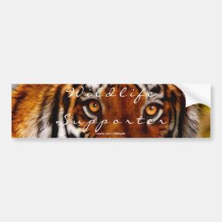 TIGER EYES Wildlife Supporter Bumper-sticker Bumper Sticker