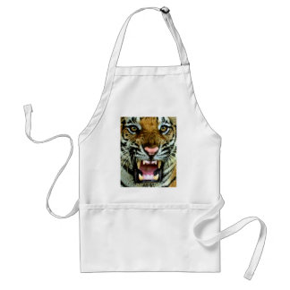 tiger face adult apron