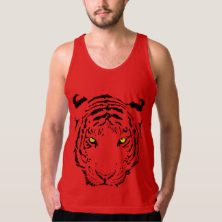 Tiger Face American Apparel Fine Jersey Tank Top