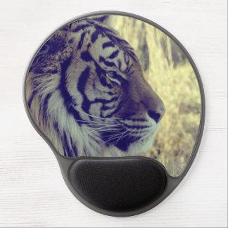 Tiger Face Aside Special Light Effect Vintage Gel Mouse Pad