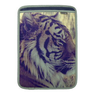 Tiger Face Aside Special Light Effect Vintage Sleeves For MacBook Air