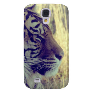Tiger Face Aside Special Light Effect Vintage Samsung Galaxy S4 Cover