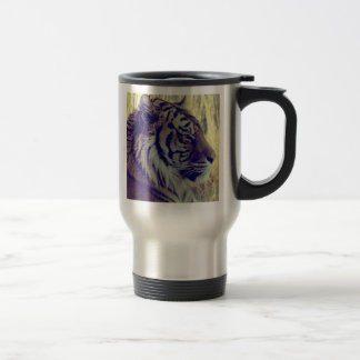 Tiger Face Aside Special Light Effect Vintage Travel Mug